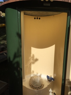 DOC issue composting toilet with view
