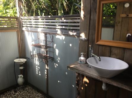 shared outdoor bathroom